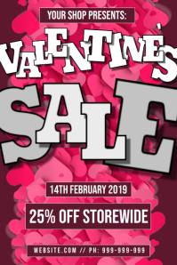 Valentines Retail Sale Poster
