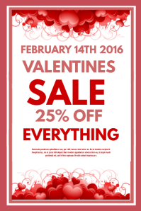 Customize 870 Valentine S Retail Poster Templates Postermywall