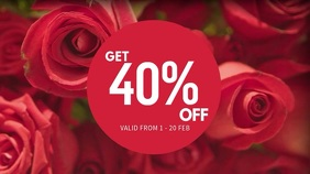 Valentines Sale Video Template Pantalla Digital (16:9)