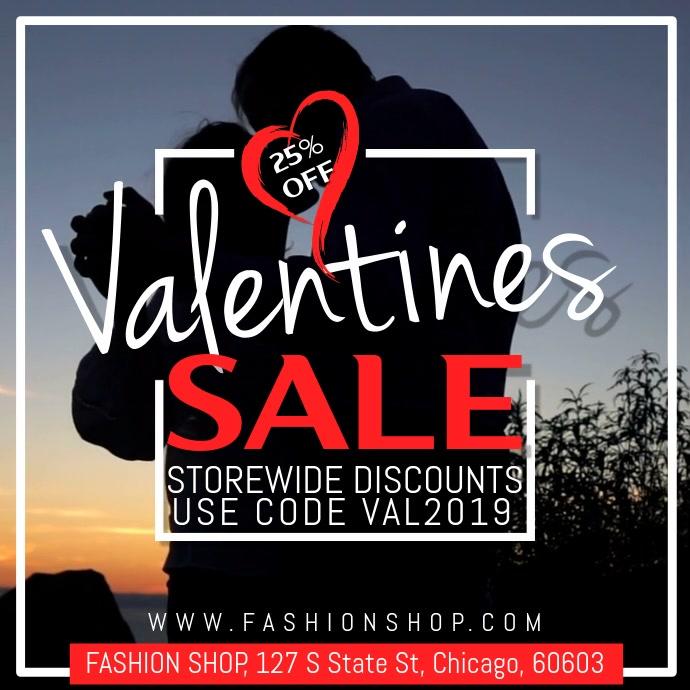 Valentines Sale Video Template Vierkant (1:1)