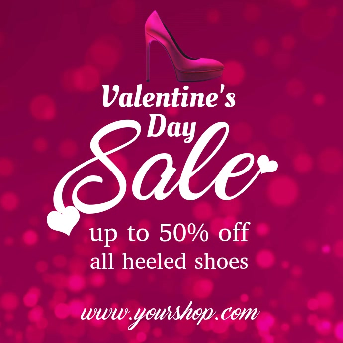 Valentines Shoe Discount Video Template