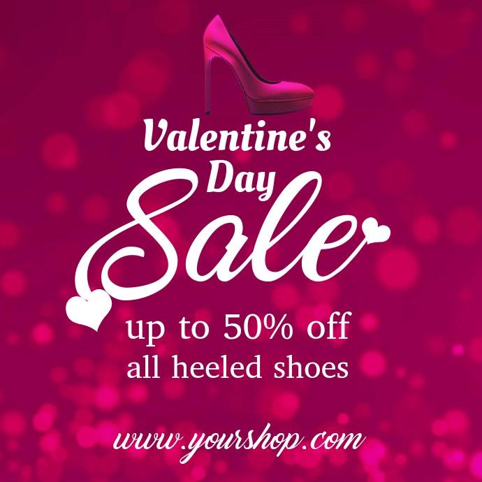 Valentines Shoe Discount Video Template Kvadrat (1:1)