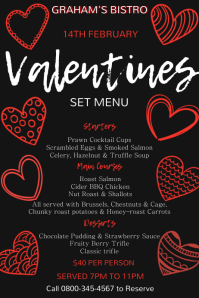 Valentines Special Menu Template