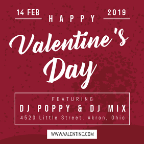 Valentines Special Party Instagram Post Template