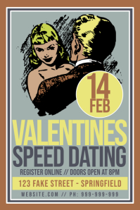 Valentines Speed Dating Poster