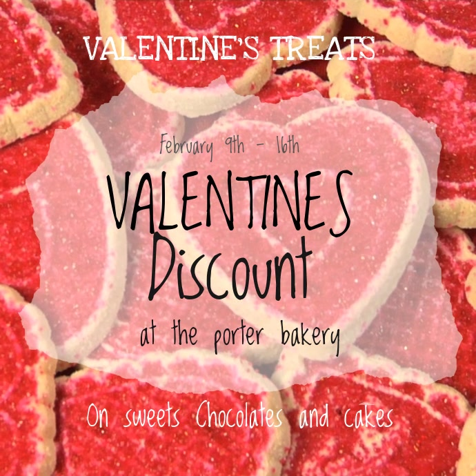 Valentines Sweets Sale Video template