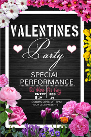 Valentines template, Valentines retail,Event template