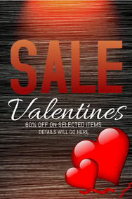 Valentines template,Event templates,retail template