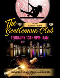 Valentines The Gentlemans Club Template