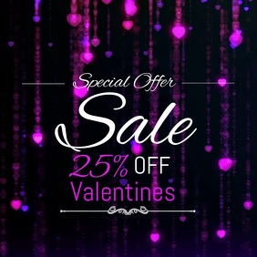 Valentines video template,Retail templates,Event templates