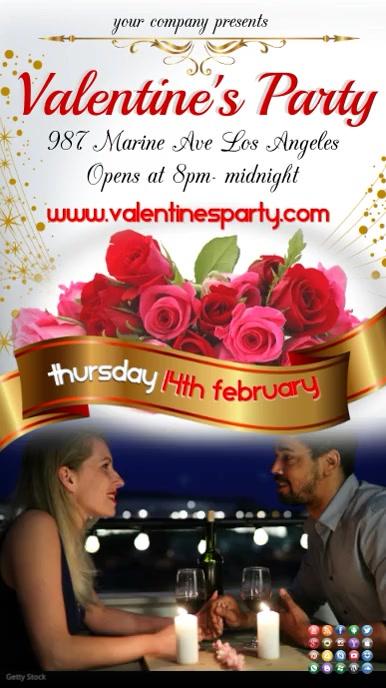 Valentines video3 Digital Display (9:16) template