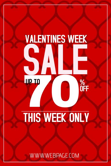 valentines week sale red portrait poster