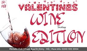 VALENTINES WINE TASTING Etiqueta template