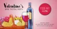 Valentines Wine Tasting Party Facebook Share template