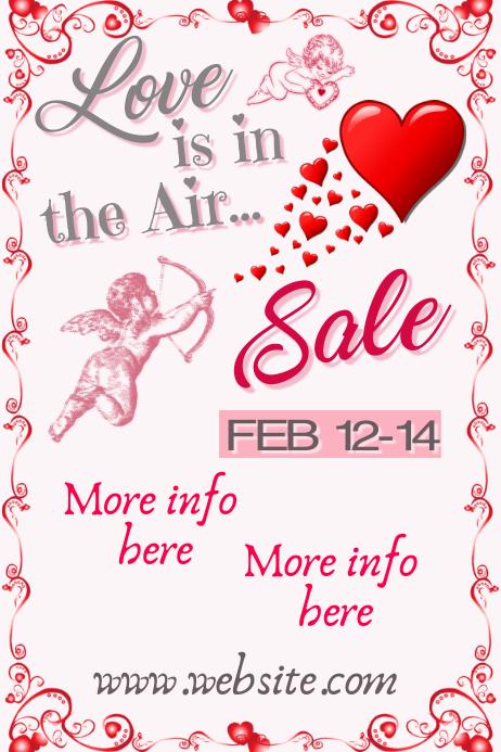 Valentne's Day Sale Plakat template