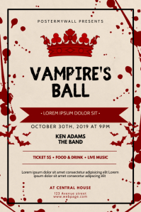 Vampire's ball event flyer template