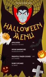 Vampire Halloween Menu US Legal