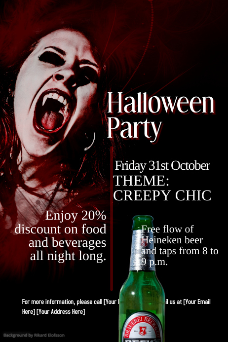 Vampire - Halloween Party Flyer Template