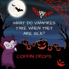 Vampire Joke Halloween Instagram Post template