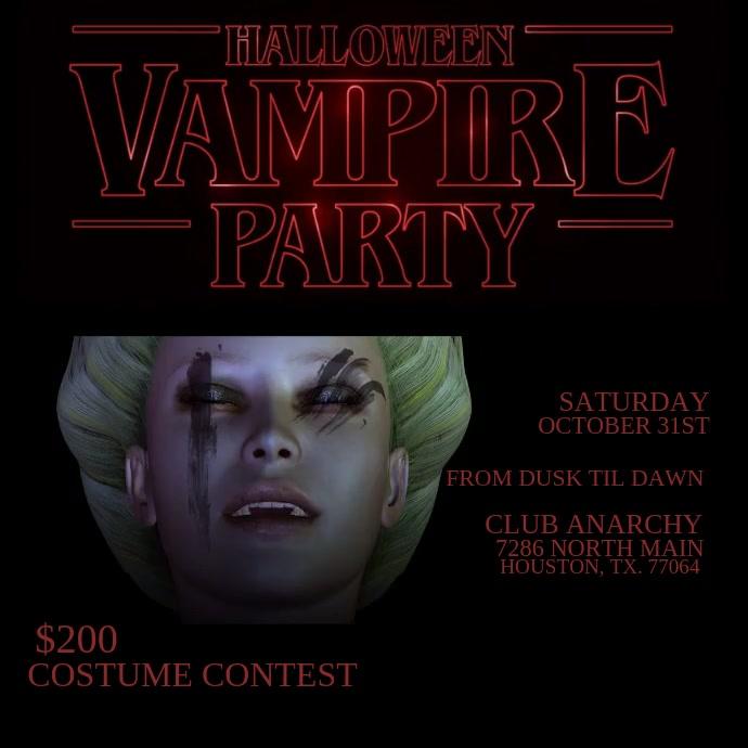 Vampire Night Party Pos Instagram template