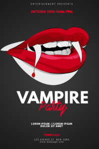 Vampire Party Flyer Design Template
