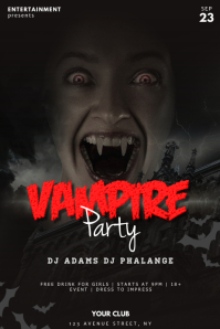 Vampire Party Flyer Template