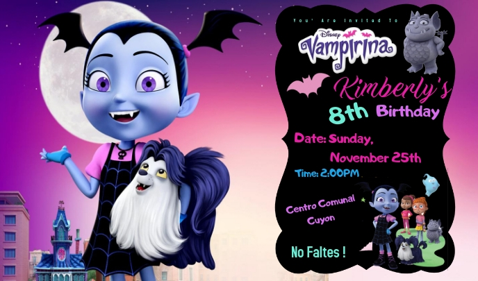 Vampirina Label template