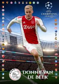 Van De Beek Ajax Poster