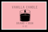 vanilla candle label Tatak template