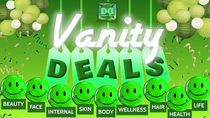 VANITY DEALS Thumbnail sa YouTube template