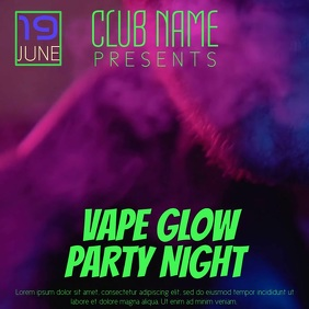 Vape Night Party Club Event Video Template