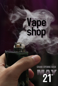 Vape Shop Grand Opening Sale Flyer Template