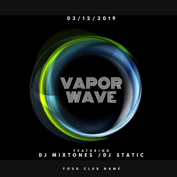 Vapor Wave Vierkant (1:1) template