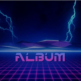 Vaporwave Neon album art video