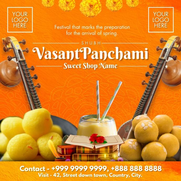 Vasant Panchami Sweets 2021 Template Instagram-bericht
