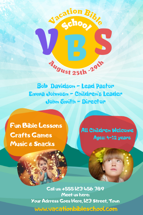 VBS Poster Template