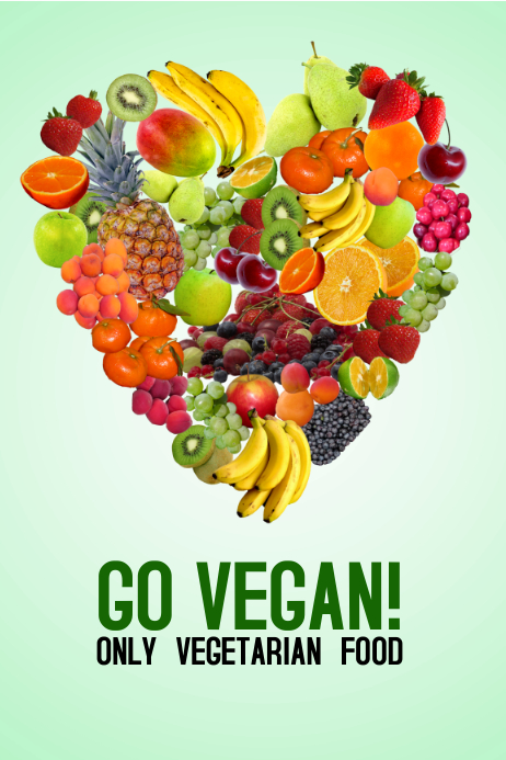 Vegan food poster flyer template