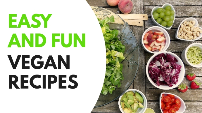 vegan recipes and cooking video thumbnail des YouTube 缩略图 template