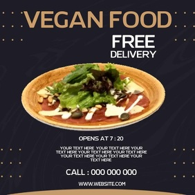 VEGAN RESTAURANT AD SOCIAL MEDIA TEMPLATE