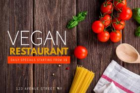 Vegan Restaurant Flyer Template