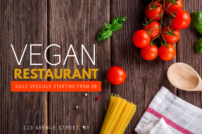 Vegan Restaurant Flyer Template