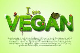 Vegan Sign Flyer Template