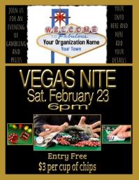 Vegas Nite Poster Flyer (US Letter) template
