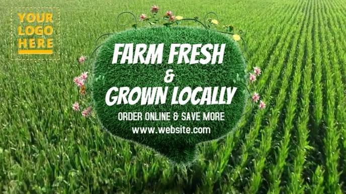 Vege & fruits digital ad template