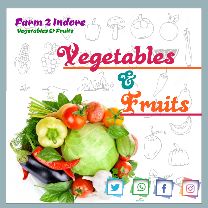 vegetables fruits template postermywall