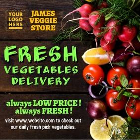 Vegetables delivery design Instagram Post template