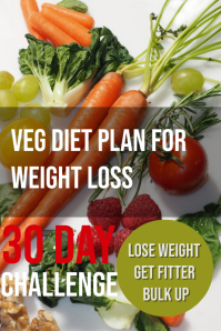 vegetables for weight loss challenge Poster template