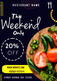 Vegetarian flyers A3 template