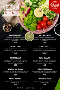 Vegetarian Menu Template
