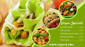 Vegetarian Vegan Digital Menu Template